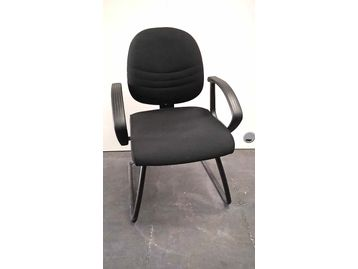 Senator black fabric cantilever boardroom chairs with black frame
