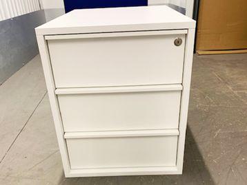 Brand New Never Used White MFC 3 Drawer Pedestals
