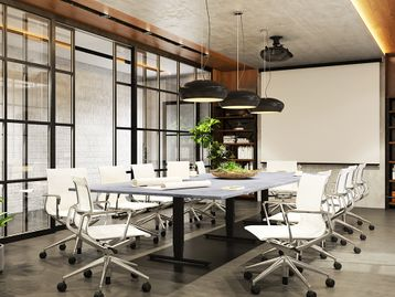 Brand New Electric Height Adjustable Meeting Boardroom Tables