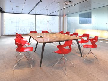 Brand New Boardroom Tables with Splayed Steel Legs