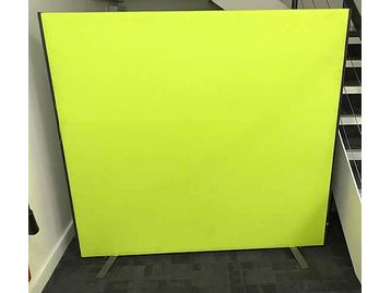 Lime Green Floor Standing Office Dividing Screen