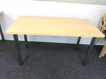 1400mm Training Office Tables with removable chrome tubular legs