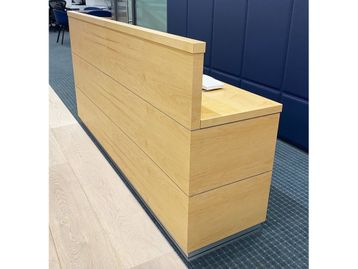 Used 2 Person Reception Desk with Integrated Drawers