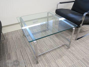 Used Walter Knoll Glass Square Coffee Table