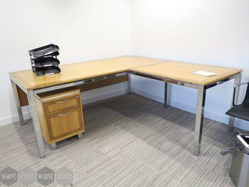 Used 2000mm Tula 'Flite' Executive Oak Veneer Corner Desk