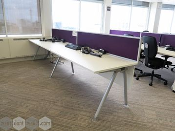 Used 1800mm Senator 'Core' White Inline Bench Desks