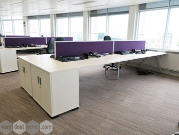 Used 1800mm Senator 'Core' White Bench Desks
