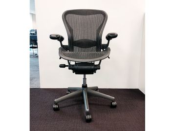 Used Herman Miller Aeron Size B Chairs in Graphite