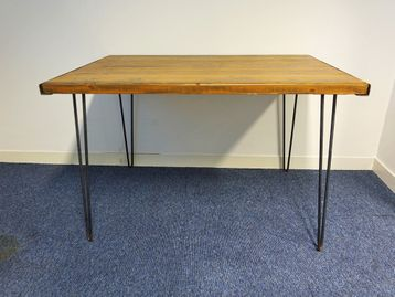 Used 1200mm Pine Desks with Hairpin Legs