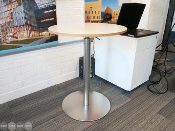 Used 600mm Height Adjustable Poseur Table