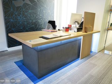 Used Reception Desk with Lighting