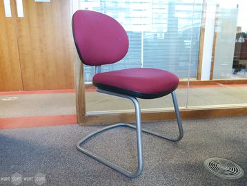 Used Fabric Cantilever Meeting Chairs