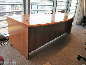 Used 2000mm Bow Fronted Executive Desk