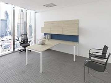 Never Used Elite Height Adjustable Desk with MFC 2 Level Workwall