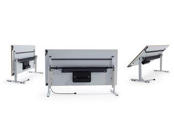 Never Used Orangebox 'Convo' OAK/BLACK Rectangular Flip Top Tables