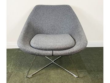 Used Allermuir A642 Open Upholstered Lounge Chairs