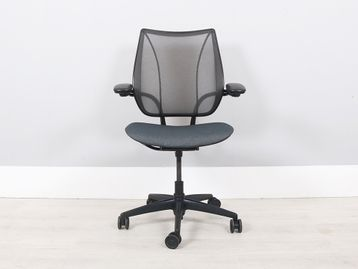 Used Humanscale Liberty Chairs with Seat Re-Upholstered in Charcoal Recycled Fabric