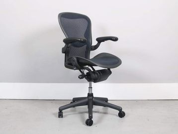 Used Herman Miller Aeron Chairs With Blue Mesh