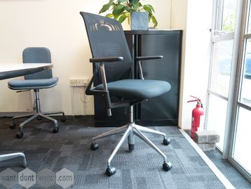 Used Vitra Meda 2 Mesh Back Operator Chair with Polished Base