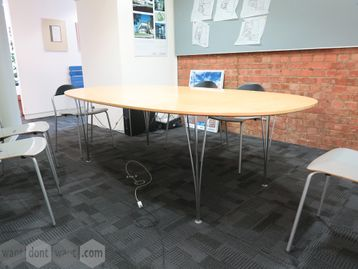 Used 2400mm Fritz Hansen Super Elliptical Boardroom Meeting Table