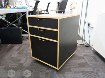 Used Habitat 3 Drawer Under Desk Pedestals