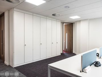 Brand New Bespoke Storagewall & Lockers Made For Your Space
