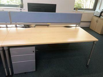 Used 1800mm Herman Miller Sense Desks with Height Adjustable Legs & Screens