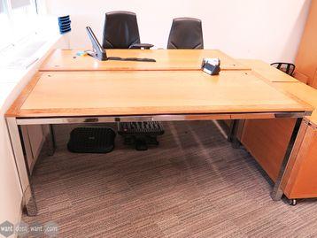Used 1800mm Tula 'Flite' Executive Oak Veneer Desk