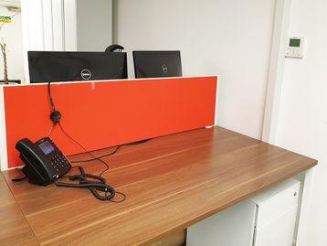 Used Fabric Desk Dividing Screens for 1400mm Desks