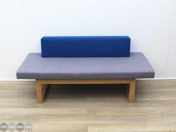 Used Blue/Grey Reception Sofa