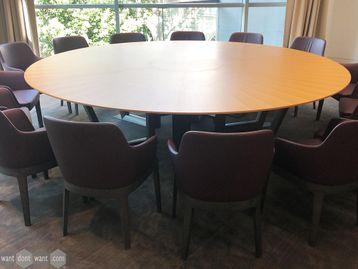 Used 2900mm OPM Circular Boardroom Table