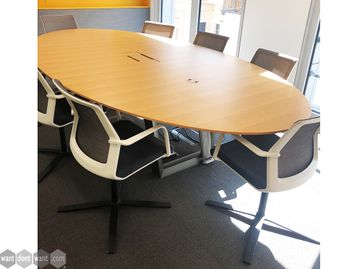 Used 3200mm Oval OPM Boardroom Table