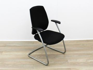 Used Cantilever Black Fabric Boardroom Meeting Chairs