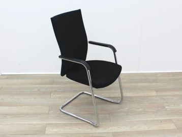 Used Black Stacking Boardroom Meeting Chair
