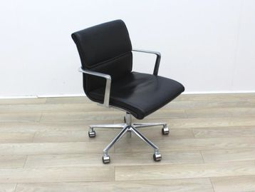 Used ICF Black Leather Meeting Chair