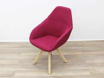 Used Pink Fabric Reception Chair