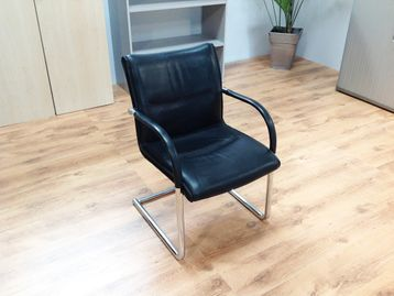 Used Kusch & Co Black Leather Meeting Boardroom Chairs