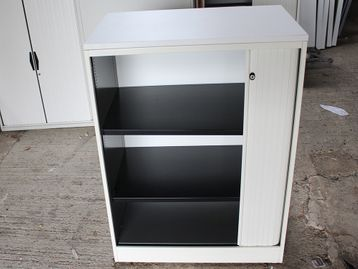 Ahrend Mid-Height Tambour Door Office Cupboards with Shelves