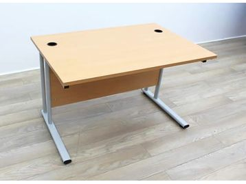 1200mm Beech Cantilever Desks With Modesty Panel