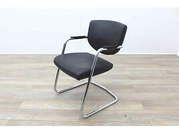 Pledge Key20C Black Leather Meeting Chair