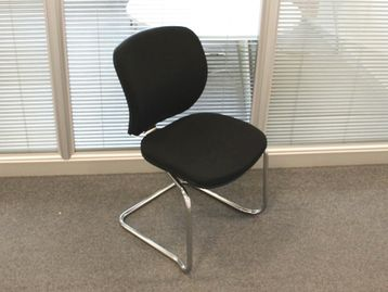 Used Black Fabric Cantilever Meeting Chairs