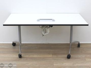 Used 1500mm White Folding Flip Top Tables