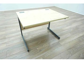 1000mm Maple cantilever desks with modesty panel and cable ports included.