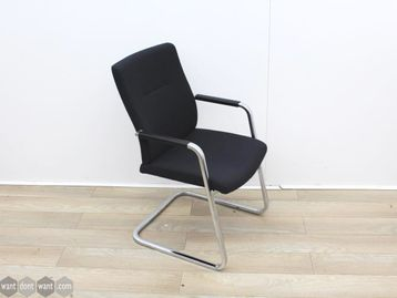 Used Black Cantilever Meeting Chairs