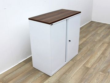 Used White Triumph Mid Height Double Door Cupboards
