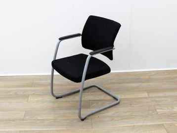 Used Black Fabric Cantilever Boardroom Meeting Chairs