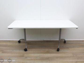 Used 1800mm White Folding Training Table