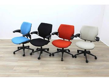 Used Humanscale Freedom operator chairs upholstered in black - re-upholstered in your choice of colour for £159 + Vat Each