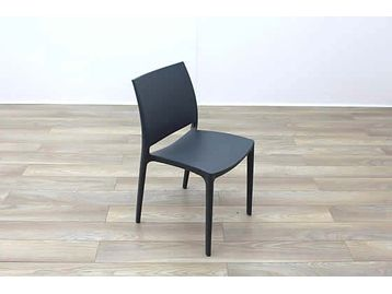Brand New boxed stackable moulded plastic chairs available in various colours.