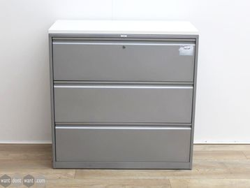 Used 3 Drawer Side Filer with White MFC Top